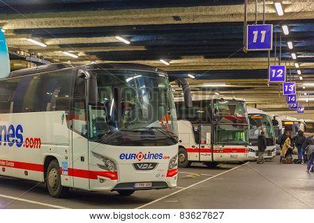 Coach station Eurolines Paris Gallieni Porte Bagnolet, Paris, France