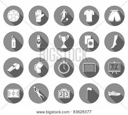 Vector Set Of Flat Icons Football