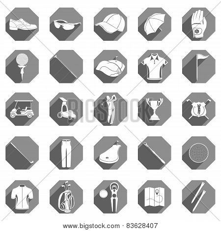 Vector Icons And Symbols Of Golf