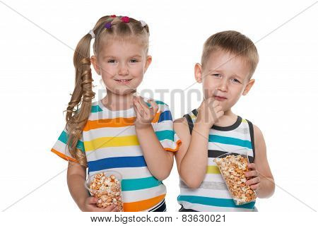 Children With Popcorn