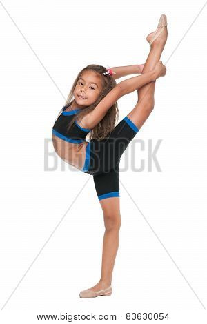 Happy Little Gymnast