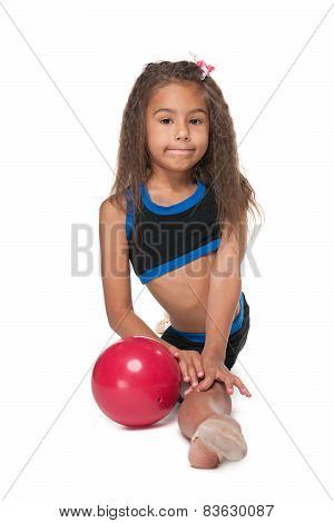 Little Gymnast With A Ball