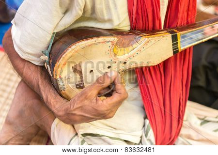 One Stringed Musical Instrument Known As Ektara