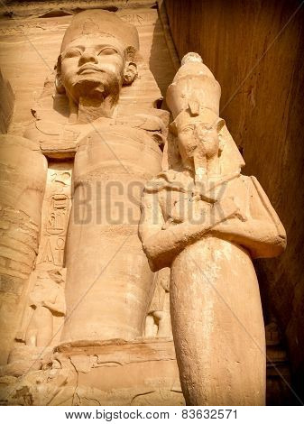 Ramses Ii And Nefertari, Abu-simbel