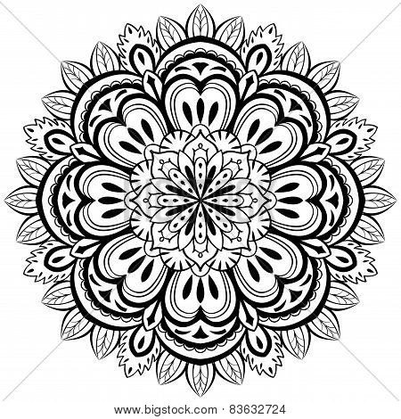 Vector, Abstract Mandala On A White Background
