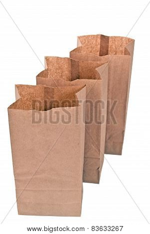 Row Of Opened Paper Bags