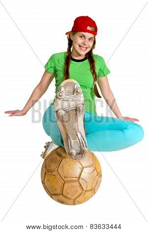 Sprtswoman With Ball