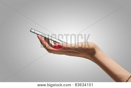Modern mobile on the hand