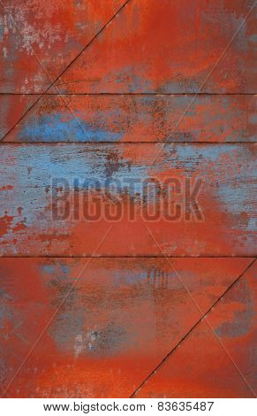 Grungy And Rusty Metal Background With Seams