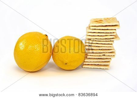 lemons and soda crackers