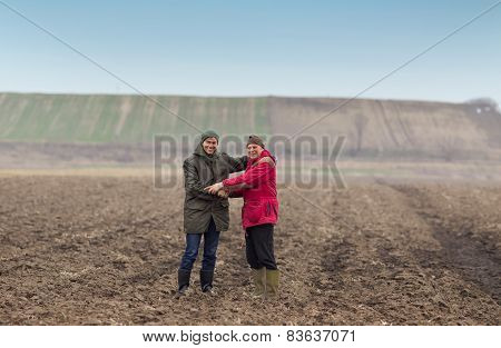 Farmers Shaking Hands