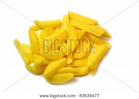 Purified And Sliced Potato.