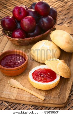 Plum Jam on Bun