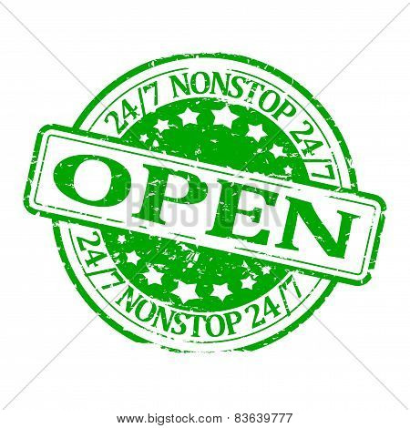 Damaged Green Seal - Open Nonstop 24/7