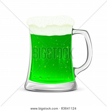 Glass Mug Of Green Beer