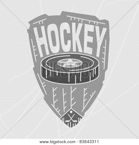Hockey Emblem Monochrome