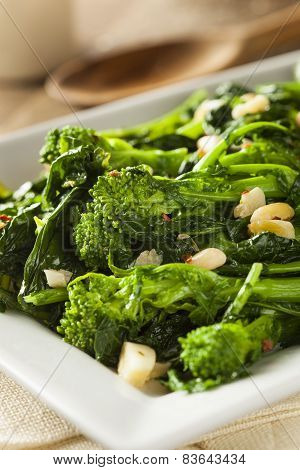 Homemade Sauteed Green Broccoli Rabe