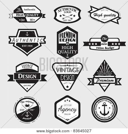 Retro Vintage Logotypes set.