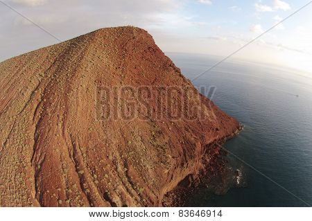 Bird's eye view photography Montania Roja Canary Islands