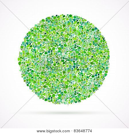 card background with circle of leaves