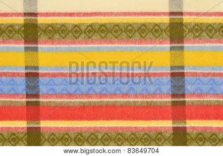 Color Stripe Wool Pattern.