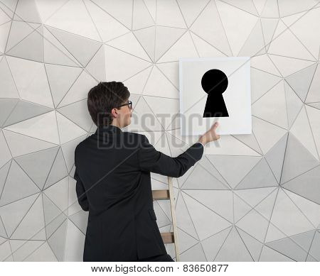 Poster With Keyhole