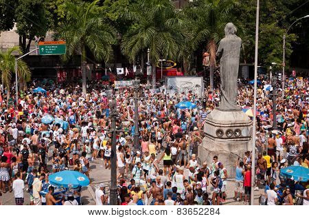 People in the streets of Rio de Janeiro during Carnival