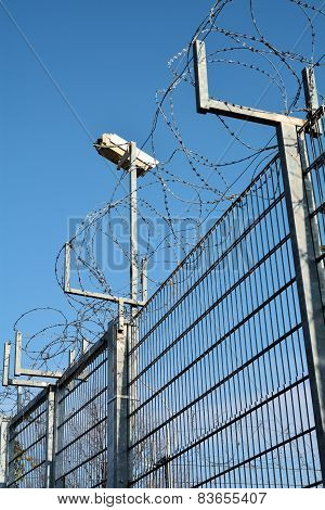 Video surveillance and barbed wire