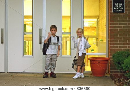 Kids Going into School