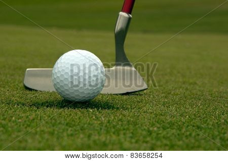 Golf ball out of hole