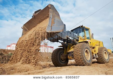 Wheel Loader At Eathmoving Works