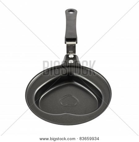 Heart shaped metal pan isolated