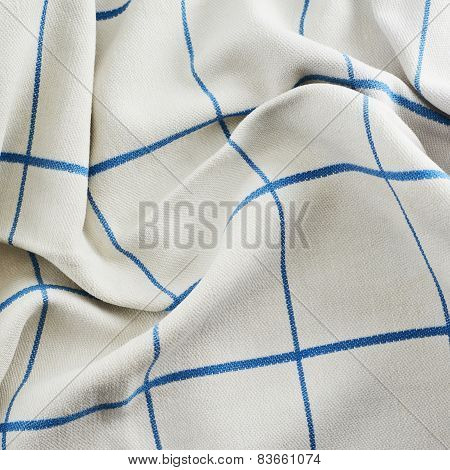 Creased tablecloth cloth