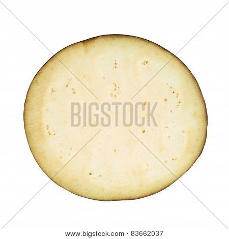 Eggplant section cut slice isolated