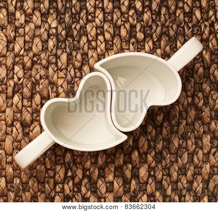 Heart shaped cups
