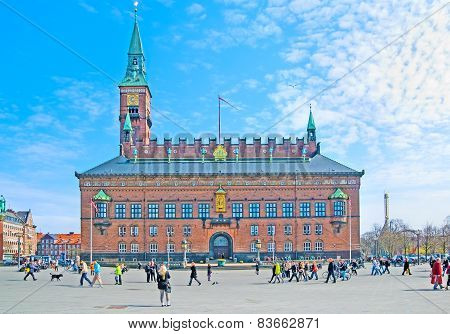 Denmark. Copenhagen. The City Hall