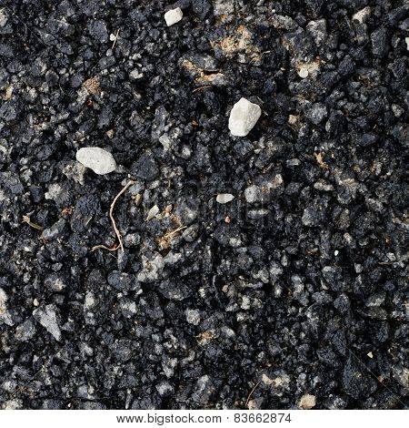 Pieces of broken bitumen asphalt
