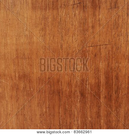 Scratched varnished wood surface