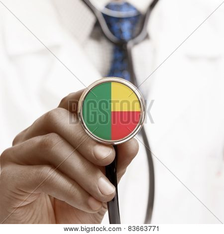 Stethoscope With National Flag Conceptual Series - Benin