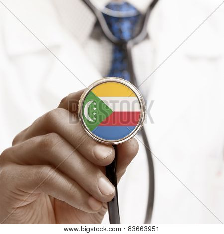 Stethoscope With National Flag Conceptual Series - Comoros