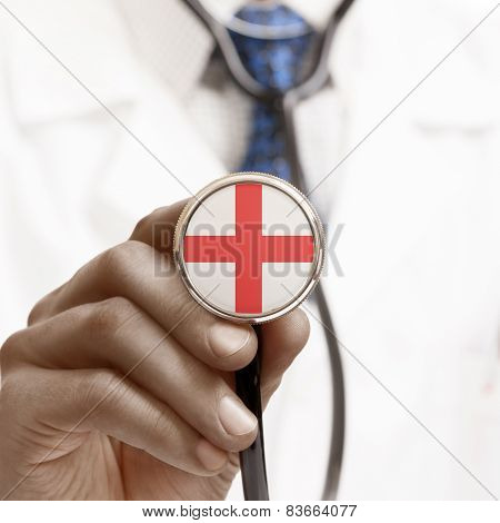Stethoscope With National Flag Conceptual Series - England