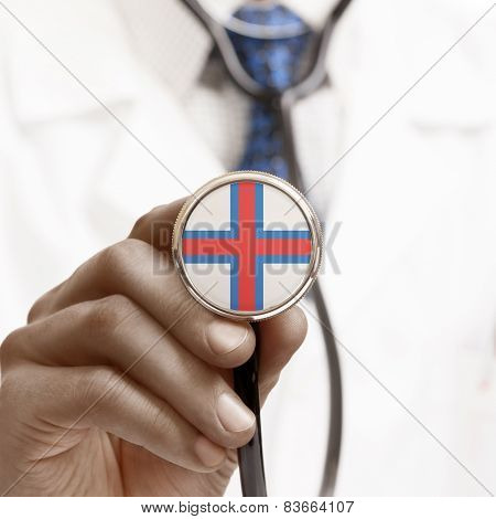 Stethoscope With National Flag Conceptual Series - Faroe Islands