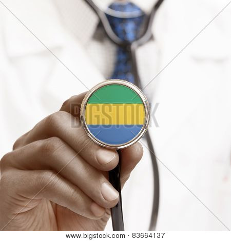 Stethoscope With National Flag Conceptual Series - Gabon