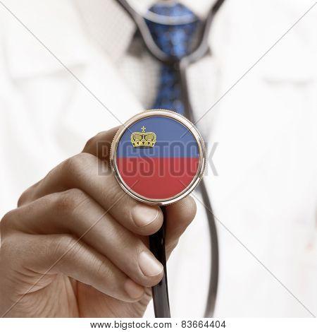 Stethoscope With National Flag Conceptual Series - Liechtenstein
