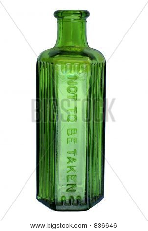 Green Bottle (with clipping path)