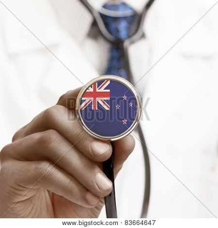 Stethoscope With National Flag Conceptual Series - New Zealand