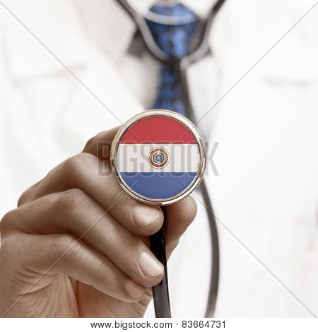Stethoscope With National Flag Conceptual Series - Paraguay