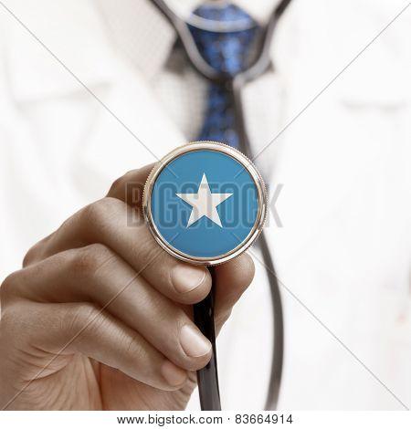 Stethoscope With National Flag Conceptual Series - Somalia
