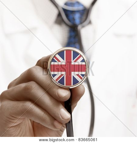 Stethoscope With National Flag Conceptual Series - United Kingdom