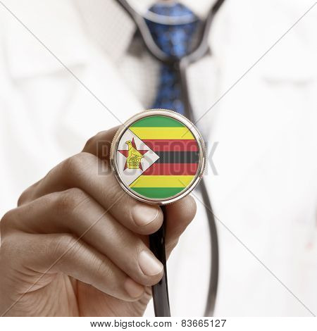 Stethoscope With National Flag Conceptual Series - Zimbabwe